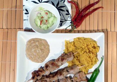 Muh Saté - Fleischspießchen mit Erdnußsauce