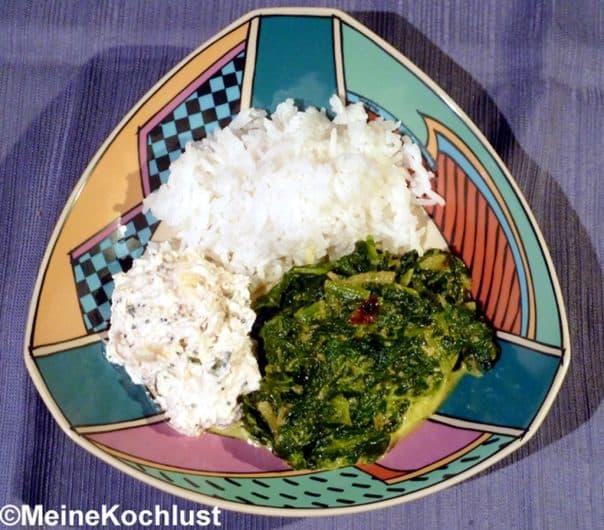 Mughlai Sag - Spinat mit Zwiebeln