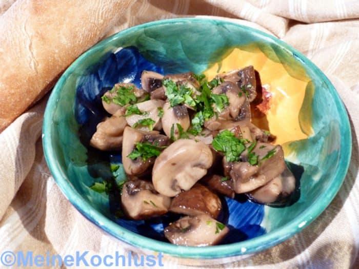 Knoblauch-Sherry-Champignons