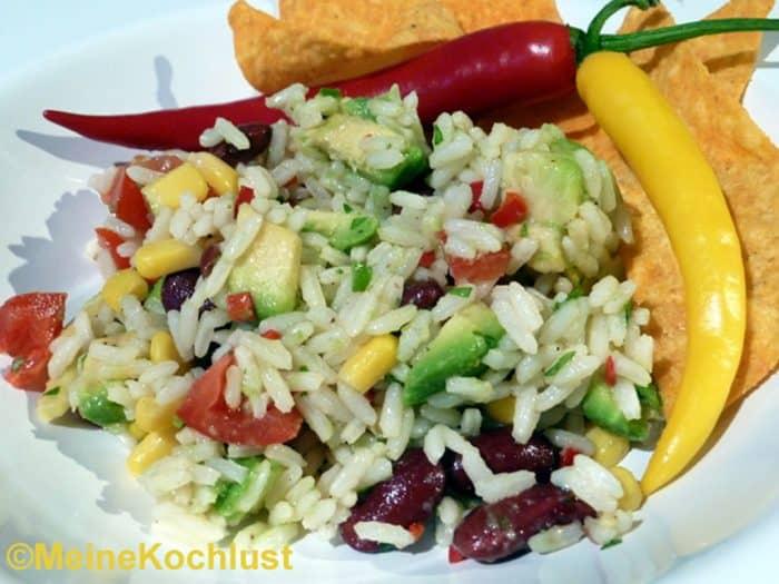 Reissalat auf mexikanische Art