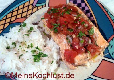Fisch mit Ceviche-Sauce