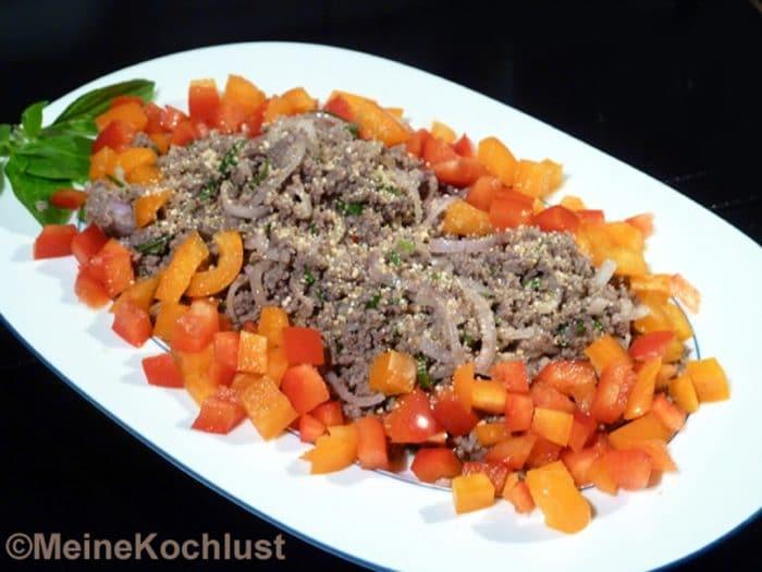 Rinderhackfleisch-Salat - Laab Nüa
