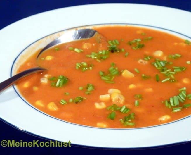 Tomatensuppe mit Mais