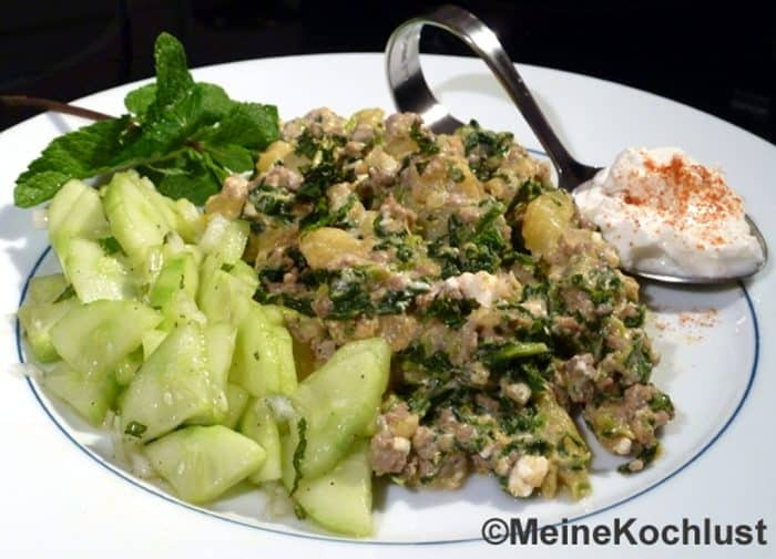 Türkische Kartoffel-Hackfleisch-Pfanne