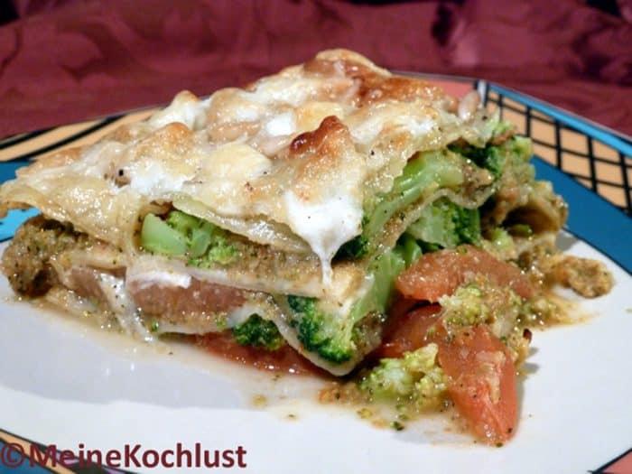 Gemüse-Lasagne mit Brokkoli