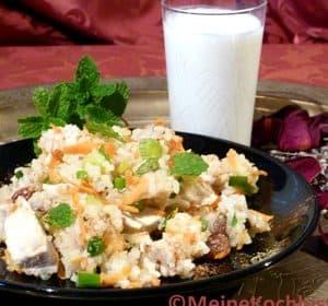 Arabischer Reis-Geflügel-Salat