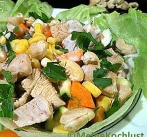 Putenbrust-Salat mit Mais