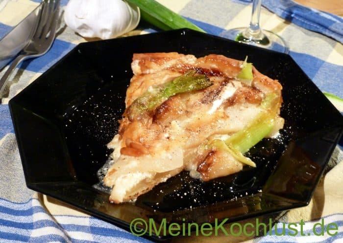 Birnen-Tarte - Stück