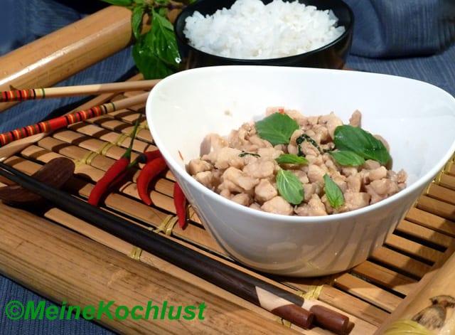 Hühnerbrust mit Chilis - Pad Kee Mao Gai