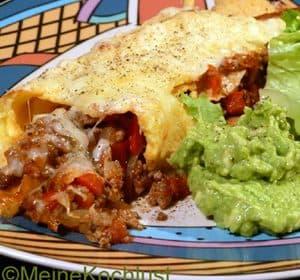 Tortillas mit Hackfleischfüllung