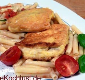 Tofu-Piccata und helle Tomatensauce
