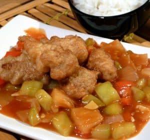 Hühnerbrust süß-sauer - Gai Pad Priau Wan