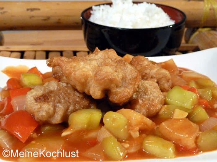 Hühnerbrust süß-sauer Gai Pad Priau Wan