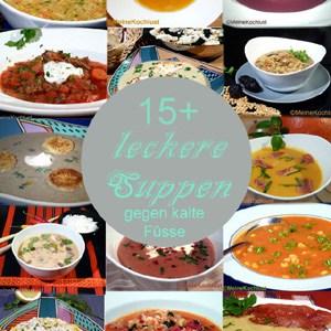 15 Köstliche Suppen gegen kalte Füsse