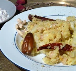 Blumenkohl-Cashew-Biryani