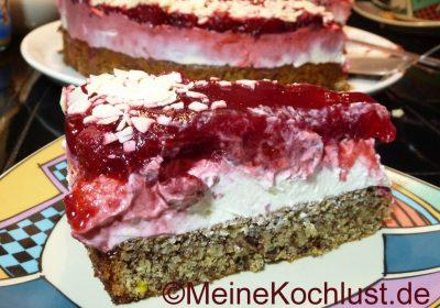Himbeer-Mascarpone-Torte mit Nussboden
